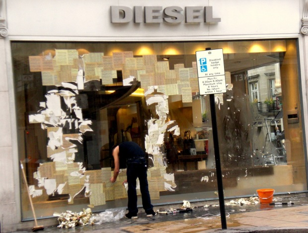 Diesel Window Display London Gifitting