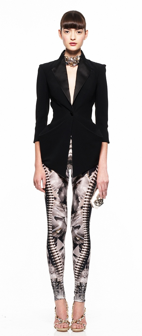 Frock Coat i Skeleton Print Leggins