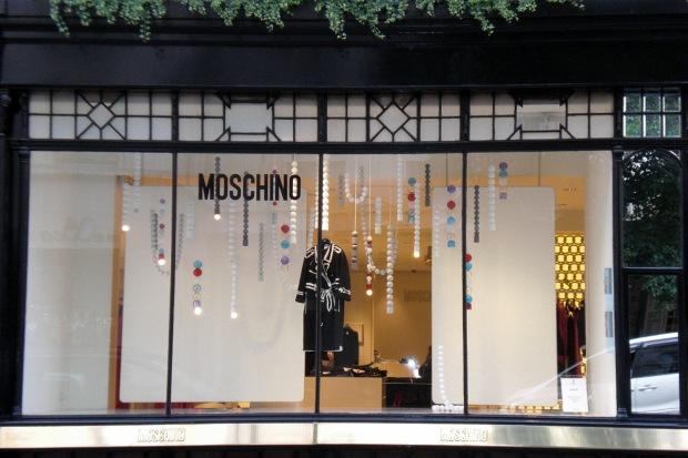 Moschino London July Window Display Gifitting