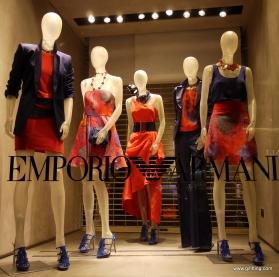 Emporio Armani: London Window Display. April 3rd. Week. Mayfair