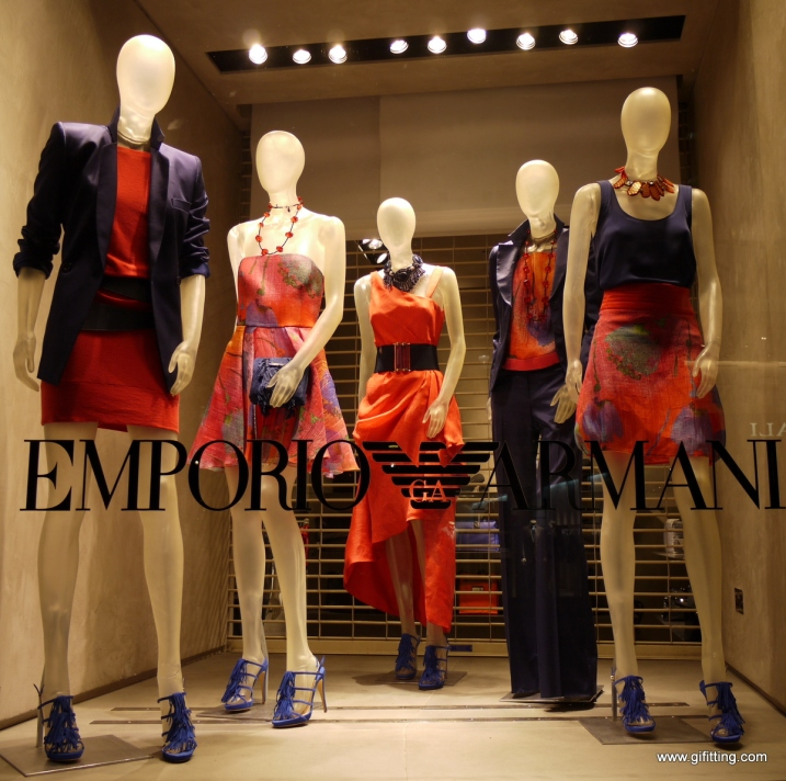 Emporio Armani: London Window Display. April 3rd. Week. Mayfair
