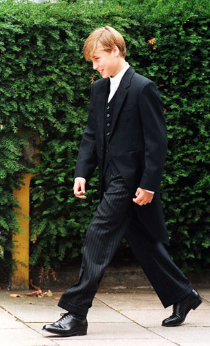 September 1995 William on his first day at Eton
